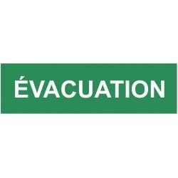 Autocollant évacuation