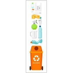 Autocollant poubelle recyclage