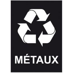 Autocollant poubelle recyclage métaux