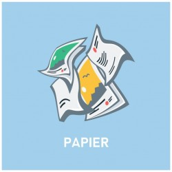 Autocollant poubelle recyclage papier