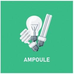 Autocollant poubelle recyclage ampoule