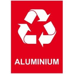 Autocollant poubelle recyclage aluminium