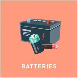 Autocollant poubelle recyclage batteries