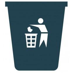 Panneau poubelle noir