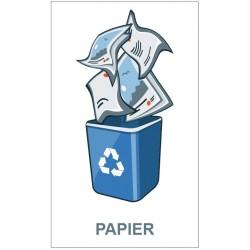 Panneau poubelle papier