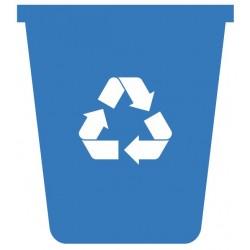 Panneau poubelle plastique