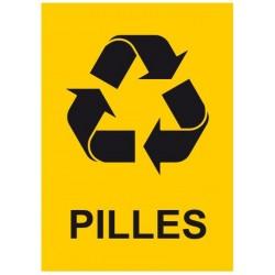 Panneau poubelle pilles