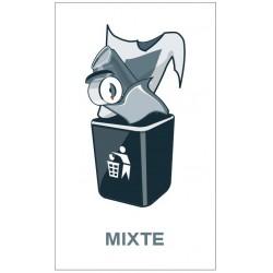 Panneau poubelle mixte
