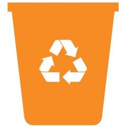 Panneau poubelle recyclage