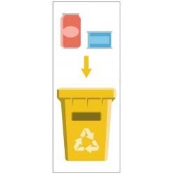 Panneau poubelle recyclage métal