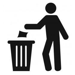 Panneau poubelle