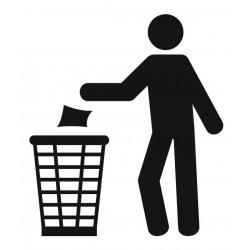Panneau poubelle recyclage papier
