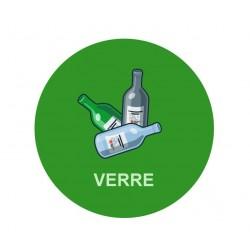 Panneau poubelle recyclage verre