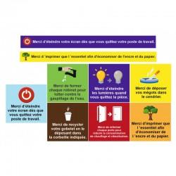 Autocollant planche règles écologique entreprise