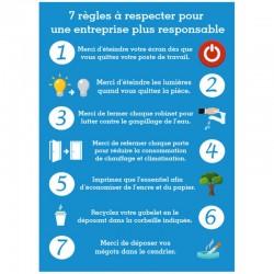 Autocollant 7 règles écologique entreprise