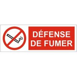 Panneau ou autocollant défense de fumer