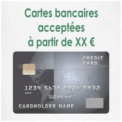 Cartes bancaires acceptées à partir de XX €