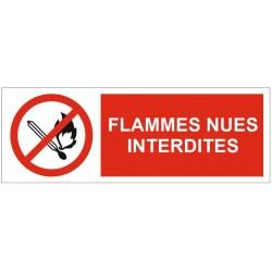 Panneau ou autocollant flammes nues interdites