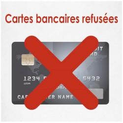 Cartes bancaires refusées