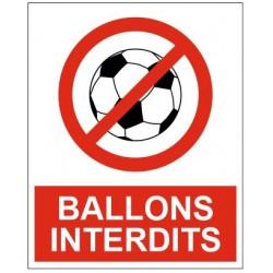 Panneau ou autocollant ballon interdit