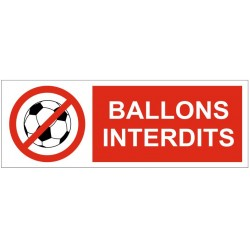 Panneau ou autocollant ballons interdits