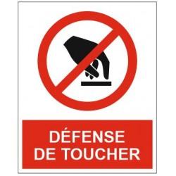 Panneau ou autocollant défense de toucher