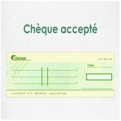 Chèque acceptés