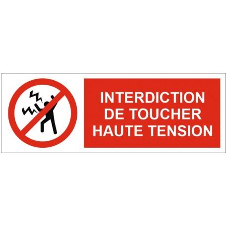 Panneau ou autocollant défense de toucher haute tension