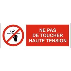 Panneau ou autocollant ne pas toucher haute tension