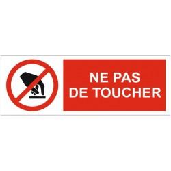 Panneau ou autocollant ne pas toucher