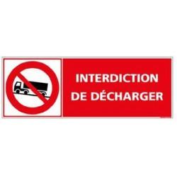 Panneau ou autocollant interdiction de décharger