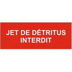 Panneau ou autocollant jet de détritus interdit