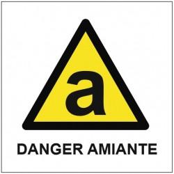 Panneau ou autocollant danger amiante