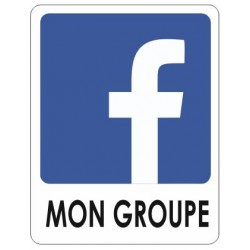 Autocollant Facebook + votre nom