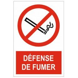 Panneau ou autocollant zone non fumeur