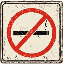 Panneau ou autocollant zone non fumeur anti tabac