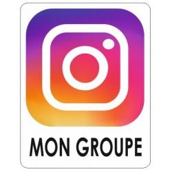 Autocollant Instagram + votre nom