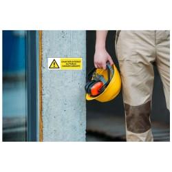 Panneau ou autocollant chantier interdit au public danger amiante