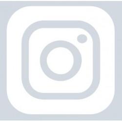 Autocollant Instagram + votre nom blanc