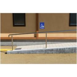 Panneau handicapé rampe d'accès - direction droite