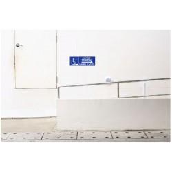 Panneau handicapés entrée principale rampe d'accès - direction droite