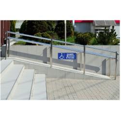 Panneau rampe d'accès - direction gauche