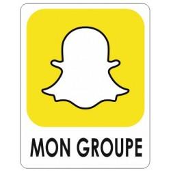 Autocollant Snapchat + votre nom