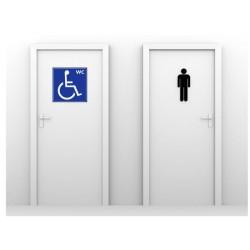 Panneau WC mixtes et handicapés