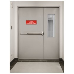 Panneau porte coupe-feu à maintenir fermée