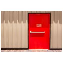 Panneau interdiction de bloquer les portes coupe feu avec des cales