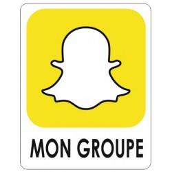 Autocollant Snapchat sur mesure