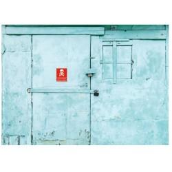 Panneau accès interdit danger de mort
