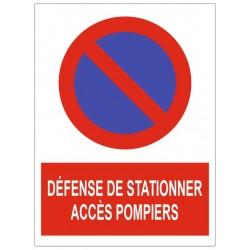 Panneau défense de stationner accès pompier