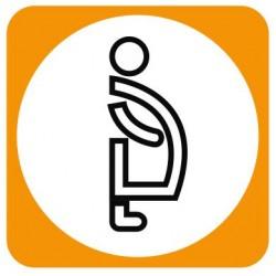 Aucollant WC femmes enceintes
